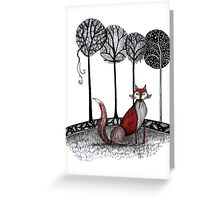 Never out fox the fox Greeting Card