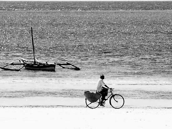 Beach bicycle  by Jean-Luc Rollier