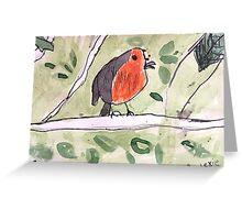 Red Wren by Lexie Uryszek Greeting Card