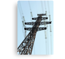 electricity pylon   Canvas Print