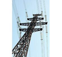 electricity pylon   Photographic Print