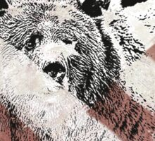 american grizz Sticker