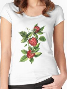 Raspberries Women's Fitted Scoop T-Shirt