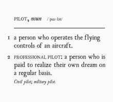 PILOT: a person who is paid to realize their own dream by LimaEchoAlpha