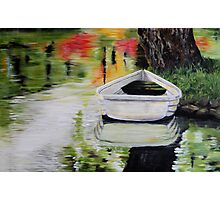 Meet me...... at the little boat Photographic Print