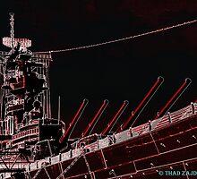 USS Wisconsin by Thad Zajdowicz