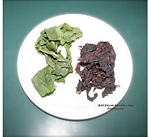 Plantain and seaweed  Photographic Print