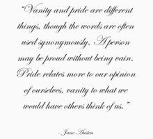 Jane Austen: Pride and Vanity by gallifreyanpond