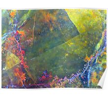 Angles and Flowers (Opalite) Poster