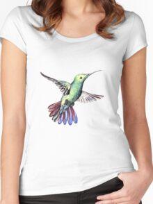 Bird hummingbird Women's Fitted Scoop T-Shirt