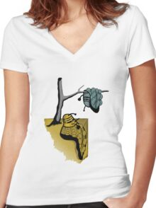 Slavador Dalek Women's Fitted V-Neck T-Shirt