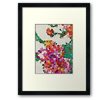 Geometric Blossoms Framed Print