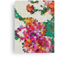 Geometric Blossoms Canvas Print