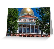 USA. Massachusetts. Boston. State House. Greeting Card