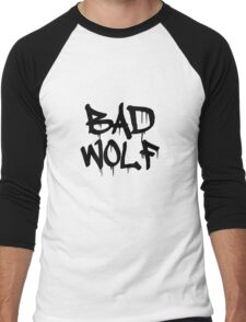 Bad Wolf #1 - Black Men's Baseball ¾ T-Shirt
