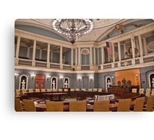 USA. Massachusetts. Boston. State House. Senate Chamber. Canvas Print