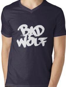 Bad Wolf #2 - White Mens V-Neck T-Shirt