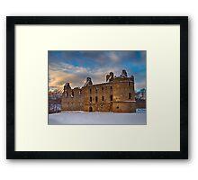BALVENIE CASTLE - WINTERS DAY Framed Print