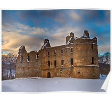 BALVENIE CASTLE - WINTERS DAY Poster