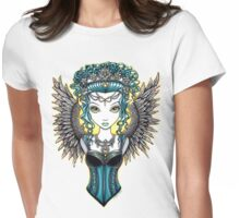 Alaura Guardian Angel Womens Fitted T-Shirt