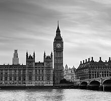 Big Ben and Westminster Bridge by SteveHphotos
