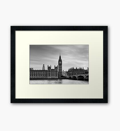 Big Ben and Westminster Bridge Framed Print
