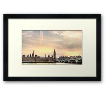 Houses of Parliament, and Big Ben London Framed Print