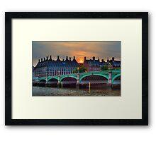 Westminster Bridge sunset Framed Print