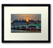 Westminster Bridge sunset Framed Print