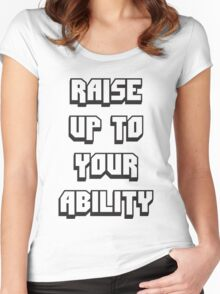 Foster The People - Raise Up To Your Ability Women's Fitted Scoop T-Shirt