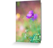 Proud Purple Cranesbill Greeting Card