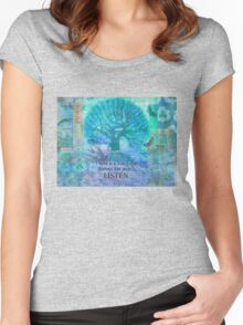 Inspirational Quote by Rumi  Women's Fitted Scoop T-Shirt