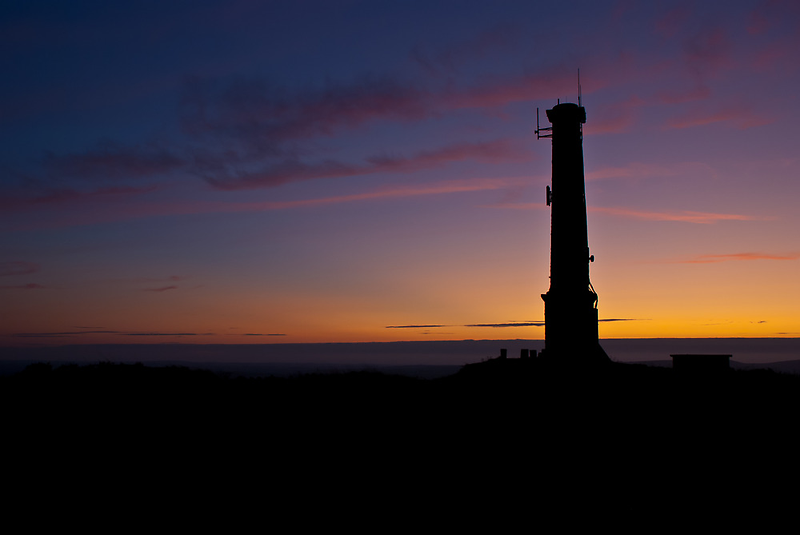 Kit Hill Stack, Sunset by Mark Smith