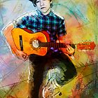 YOUNG BOY PLAYING GUITAR by danvar