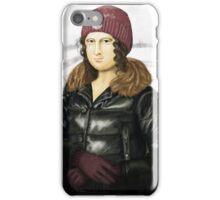 Mona Lisa in winter iPhone Case/Skin