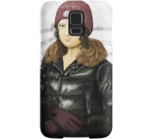 Mona Lisa in winter Samsung Galaxy Case/Skin