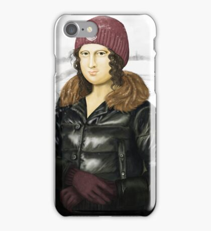 Mona Lisa in winter iPhone Case/Skin