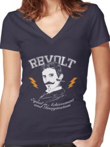 REVOLT Women's Fitted V-Neck T-Shirt