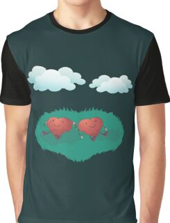 HEARTS IN THE CLOUDS Graphic T-Shirt