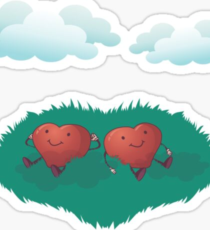 HEARTS IN THE CLOUDS Sticker