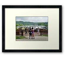 Eco-Tourism at Great Falls Park, VA Framed Print
