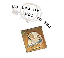 To tea or not to tea Photographic Print