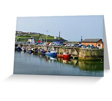 Whitehaven harbour. Greeting Card