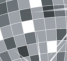 Shiny Squares Disco Ball Silver Gray White by sitnica