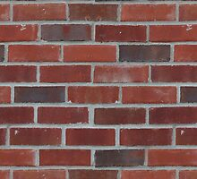 Brick Wall and Mortar - Dark Red, White by sitnica