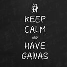 Keep Calm and Have Ganas - Chalkboard by olmosperfect