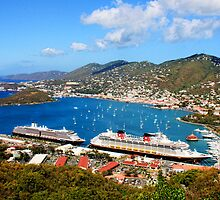 Cruise ships in St. Thomas by Timothy Gass