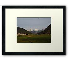 Mountain View in Austria Framed Print
