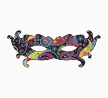 Mardi Gras Carnival Mask - Black Pink Yellow Blue by sitnica