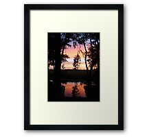 JULY SUNSET ON ECONFINA CREEK Framed Print